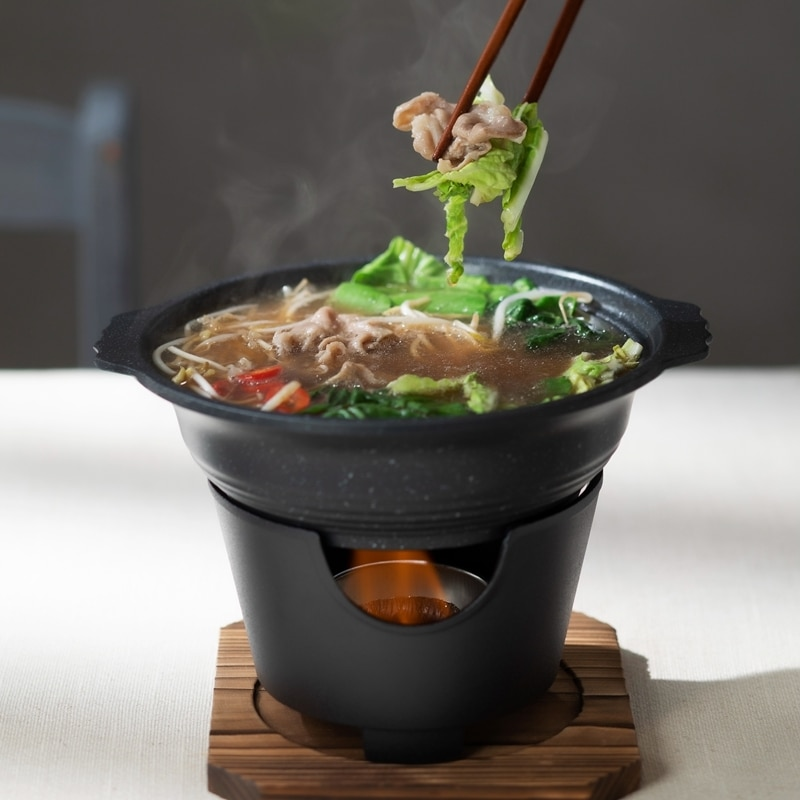 Una sola persona mini olla de sopa caliente hogar multi-funcional horno de hierro fundido barbacoa cocina coreana olla para guisado carbón estufa para hacer parrilla set