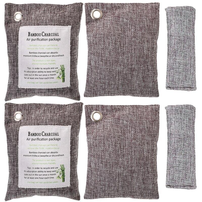 6 bolsas purificador de aire purificador naturaleza fresco carbón bambú molde ambientador bolsa