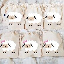 5pcs Sheep gift bags Barnyard Farm Animal themed Baby Shower boy girl Birthday Party Eid Mubarak Al
