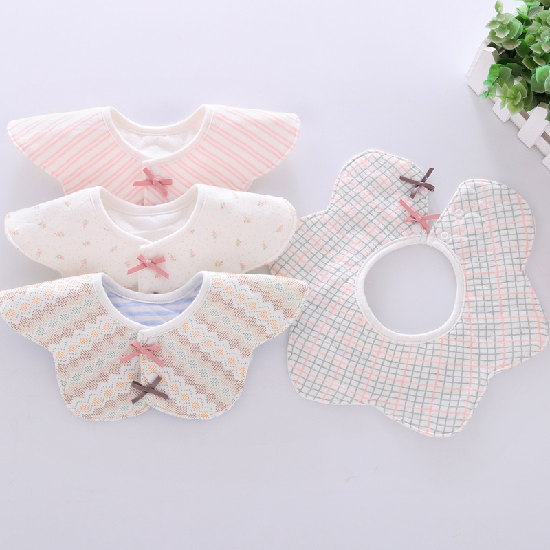 De bebé de algodón de tela impermeable Baberos toalla para la saliva de bebé Babador de alimentación delantal infantil Burp paños baberos Bandana