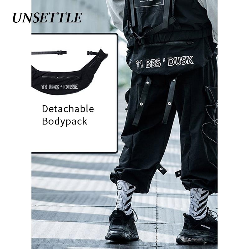 UNSETTLE 2020 Frühling/Sommer Hip Hop Joggers Männer/Frauen Streetwear Hosen Multi-tasche Jogginghose Casual Zerlegen Brust pack