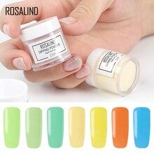 ROSALIND14 Colors Dip Powder Nail Art Glitter No Need Lamp Cured glitter Holographic Powder dipping powder Manicure nails Powder