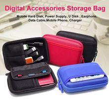 2.5 pouces externe boîtier de disque dur sac Portable batterie externe pour voyage carte publicitaire USB câble de données 2.5 pouces SSD HDD boîtier de protection boîte