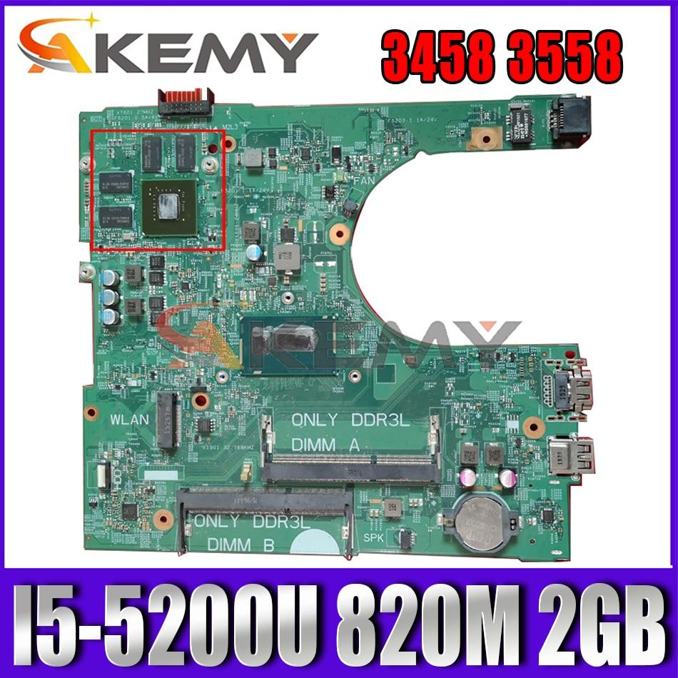 Akemy I5-5200U 820M 2GB لديل انسبايرون 3458 3558 اللوحة 14216-1 1XVKN 042FX9 42FX9 اللوحة 100% اختبار