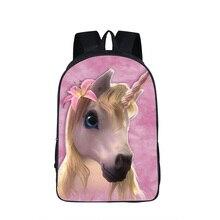 Фантастический рюкзак с принтом лошади единорога, школьные сумки для подростков, нейлоновые рюкзаки для мальчиков и девочек, школьные сумки для книг, сумки для подростков, Mochila