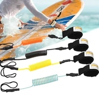 surf board leash surfing sup leash elastic coiled stand up paddle board safety handfoot straps surfboard raft kayak rope