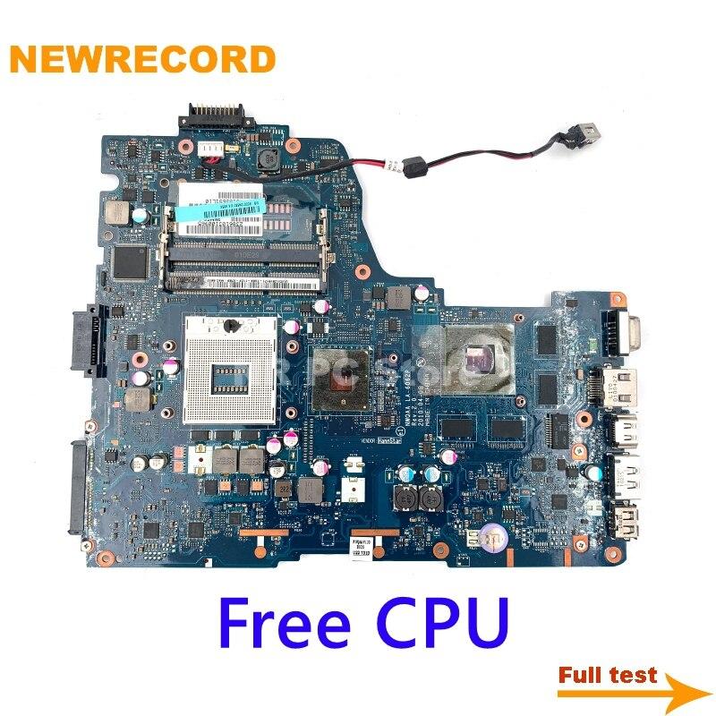 نيوسجل لتوتوشيبا A660 A665 اللوحة الأم للكمبيوتر المحمول LA-6062P K000104380 HM55 وحدة المعالجة المركزية الحرة اللوحة الرئيسية اختبار كامل