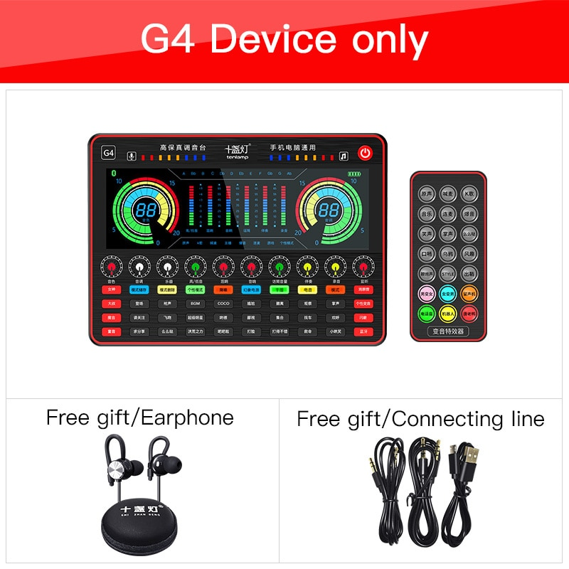 Bluetooth Sound Card Audio USB Headset Microphone Webcast Live Sound Card for Phone Computer PC Sing enlarge