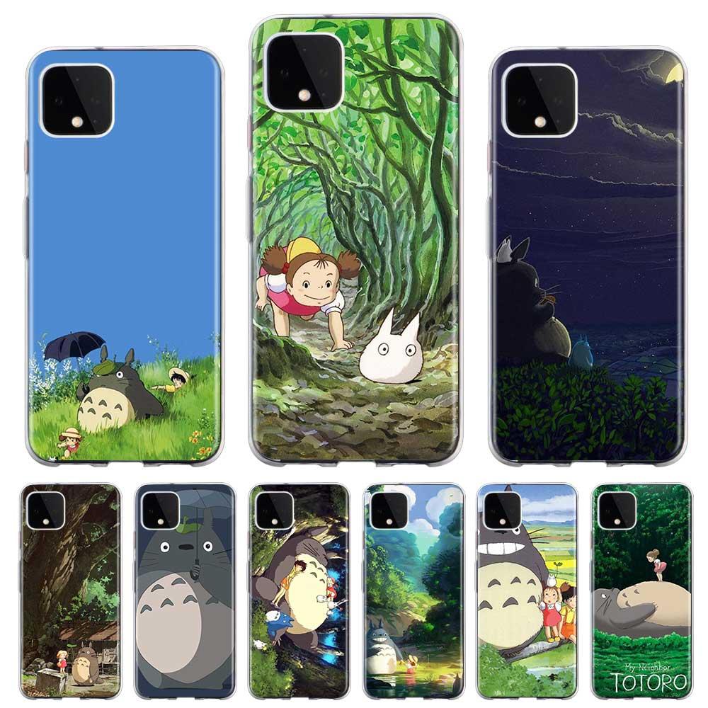 Funda de teléfono transparente Anime Totoro Ghibli para Google Pixel 4 XL Pixel 4 Pixel 4a funda trasera de silicona suave Coque Shell Fundas