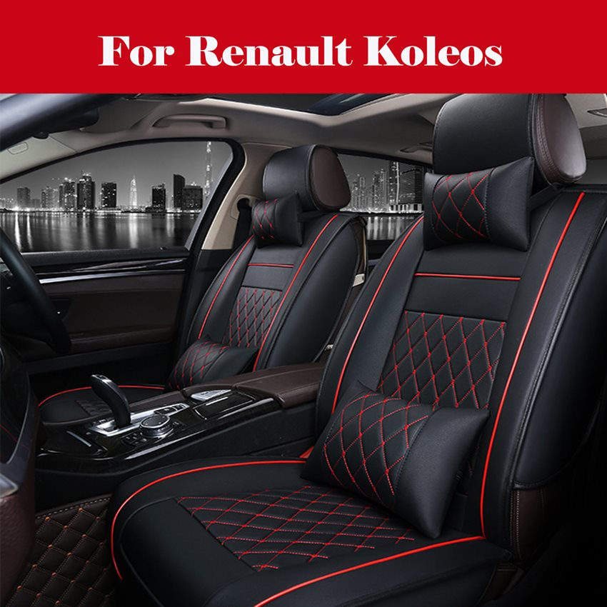 Custom Leather car seat cover Automobiles Seat Covers cars Deluxe Leather Car Seat Cover For Renault Koleos