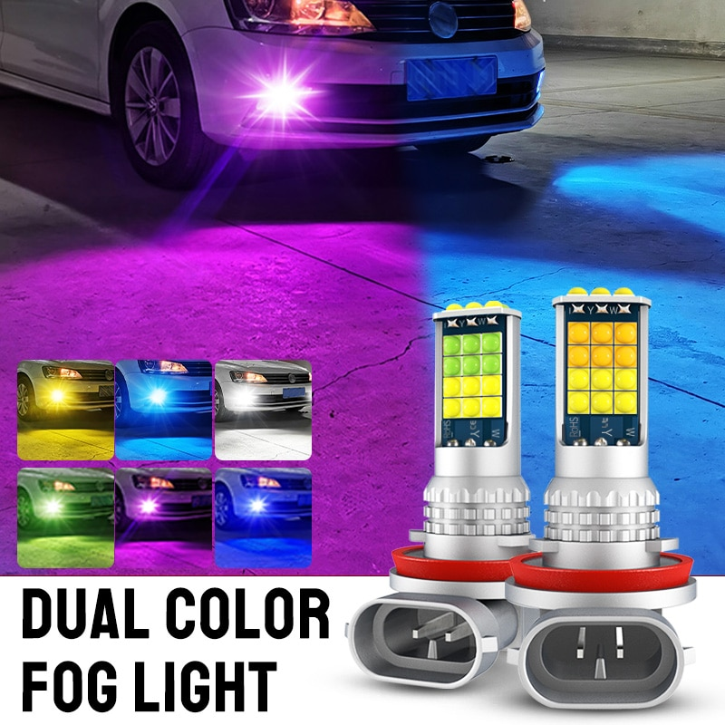 2x H3 H11 H8 H7 H16 5202 PSX24W PY24W 9006 HB4 881 880 H27 P13W LED Fog Light Bulbs Car Fog Lamp DRL For BMW Audi VW Benz Honda