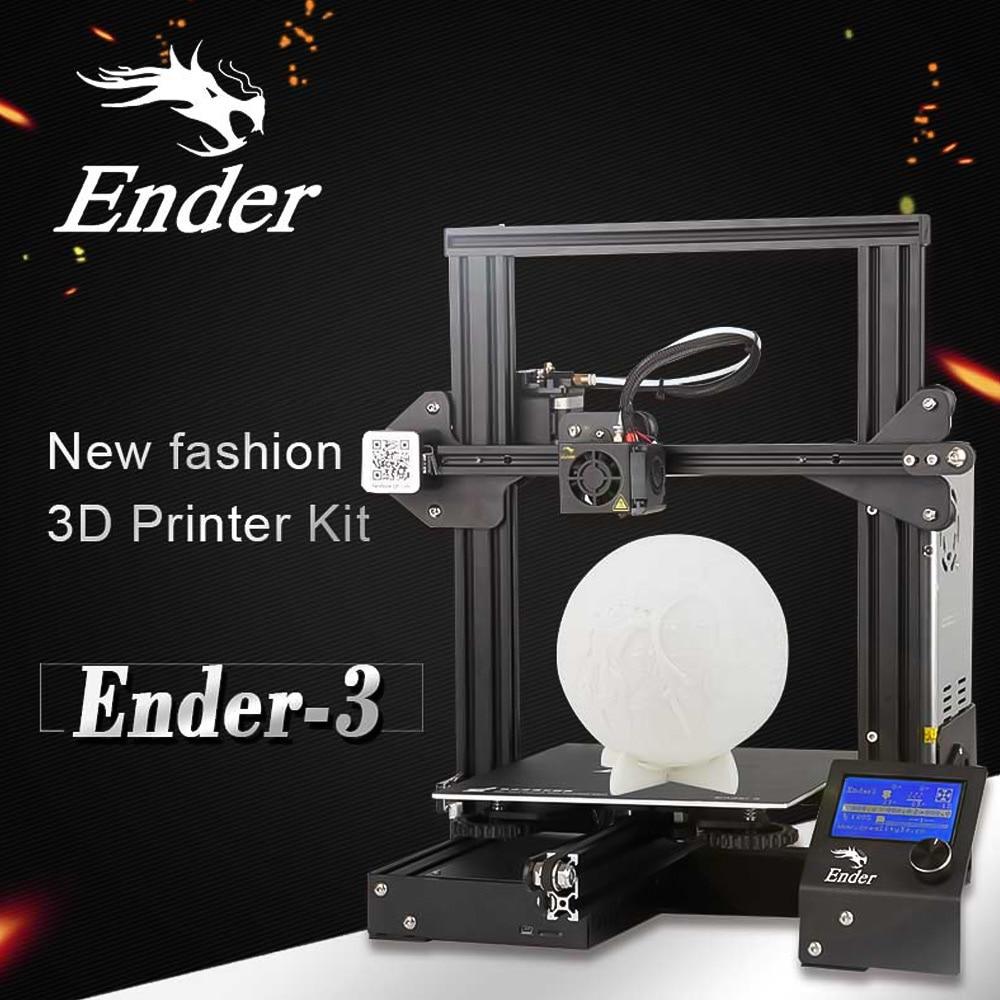 Creality 3d Ender-3 / Ender-3 pro impressora 3d diy kit auto-montar ender 3 com atualização retomar impressão power 6.19 entrega