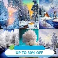Toile de decoration de noel  affiches de peinture  tableau dart mural de neige dhiver pour salon  decoration de maison
