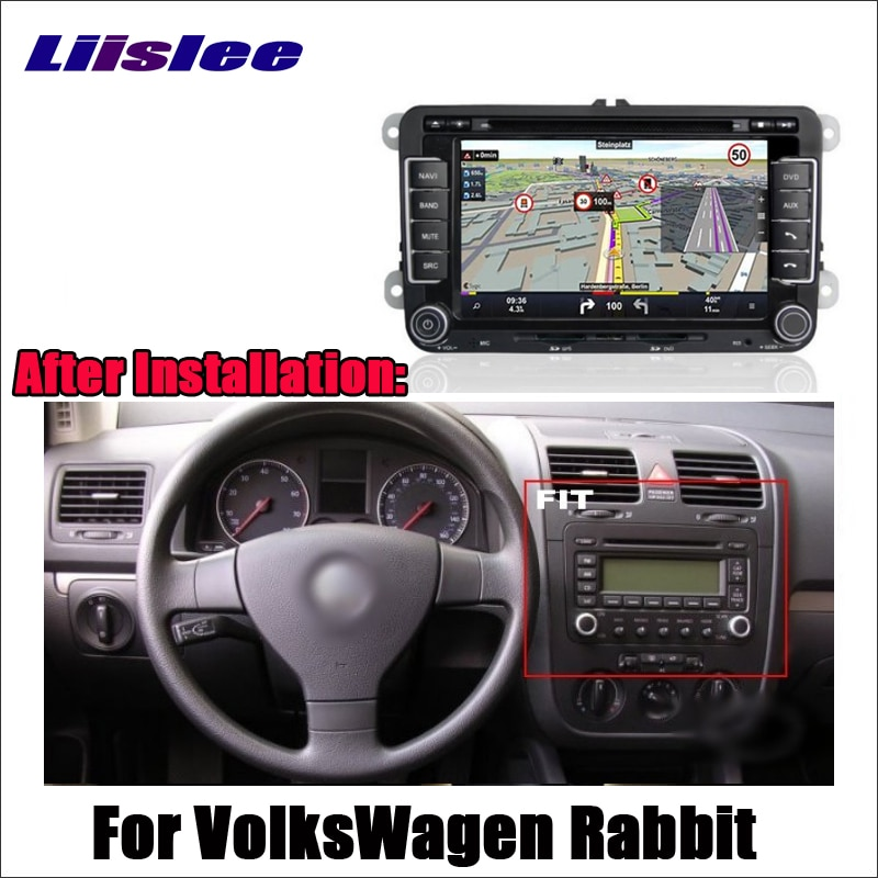 Liislee para VolksWagen conejo 2007 ~ 2009 Android GPS Navi mapa sistema de navegación Radio DVD BT WIFI HD pantalla Sistema Multimedia