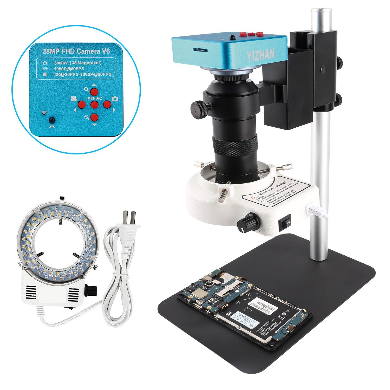 مجهر رقمي 38 ميجابكسل 2K HDMI-متوافق مع VGA للإلكترونيات الصناعية, مجهر فيديو رقمي ، عدسة تركيب 130X C