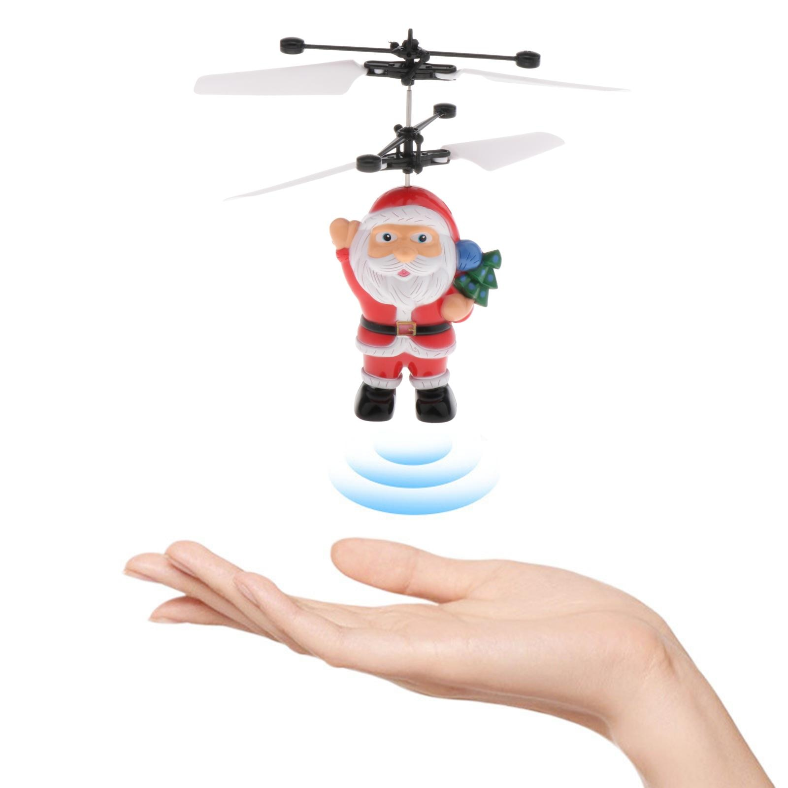 Santa Claus Flying Ball, Kids Toys RC Infrared Induction Helicopter Airplane Fun