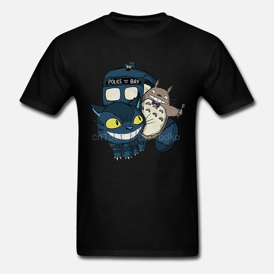 Mi Doctor Totowho mi vecino Totoro Catbus Tardis hombres #39 camiseta moda verano camiseta