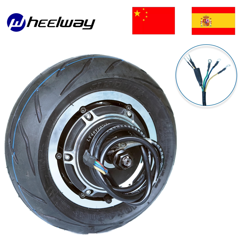 Rueda de patinete eléctrico sin escobillas, Motor de neumáticos de carretera, 48V,...