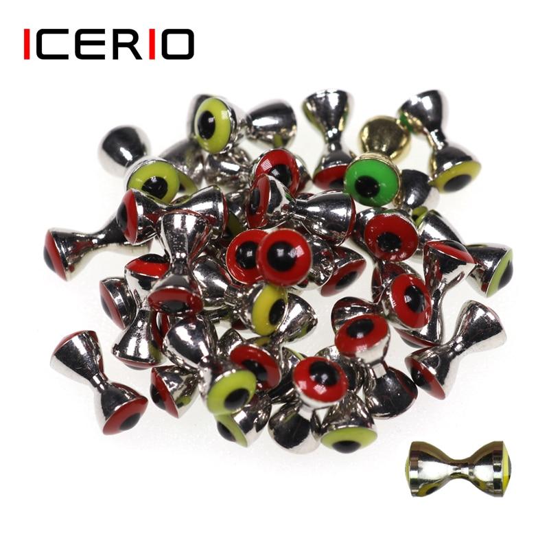 10 шт. 3D реалистичные Твердые гантели ICERIO, материалы для подвязки рыбьих глаз, затонувшие латунные штанги, бусины, псевдо глаза