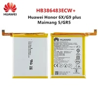 hua wei 100 orginal hb386483ecw 3340mah battery for huawei maimang 5 honor 6x g9 plus gr5 2017 mla al00al10 batteries