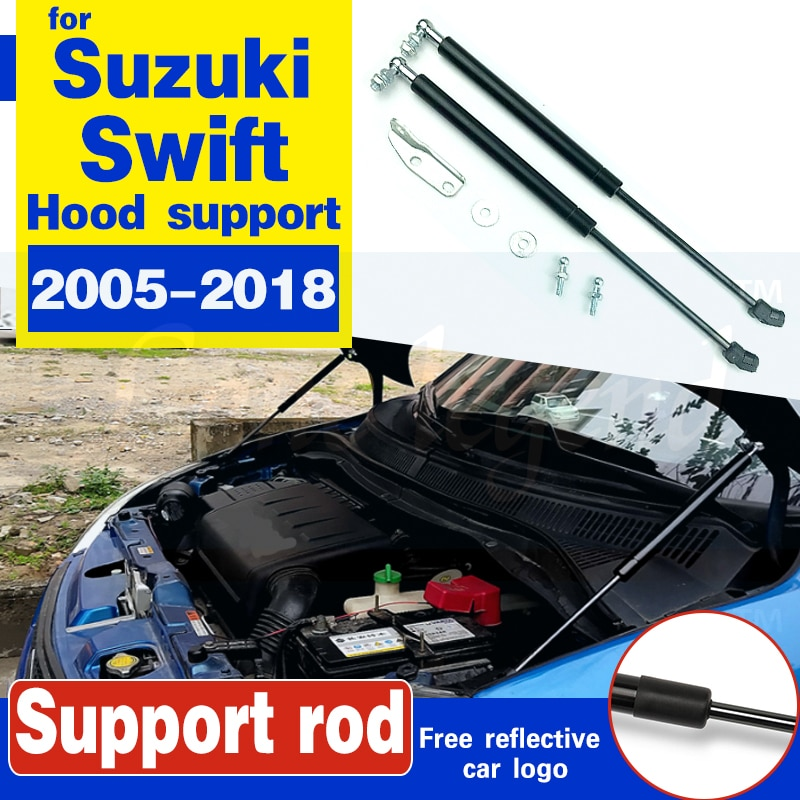 car bonnet hood strut bars lift hydraulic rod support spring bracket accessories For Suzuki Swift 2005-2018 No Drilling/Welding