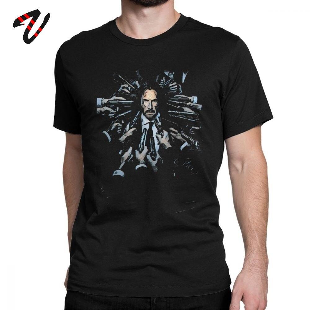 Camiseta John Wick, camisetas para hombre, novedosas camisetas Keanu Reeves Violence Action Movie, camiseta de manga corta, Camiseta de algodón, el mejor regalo, ropa