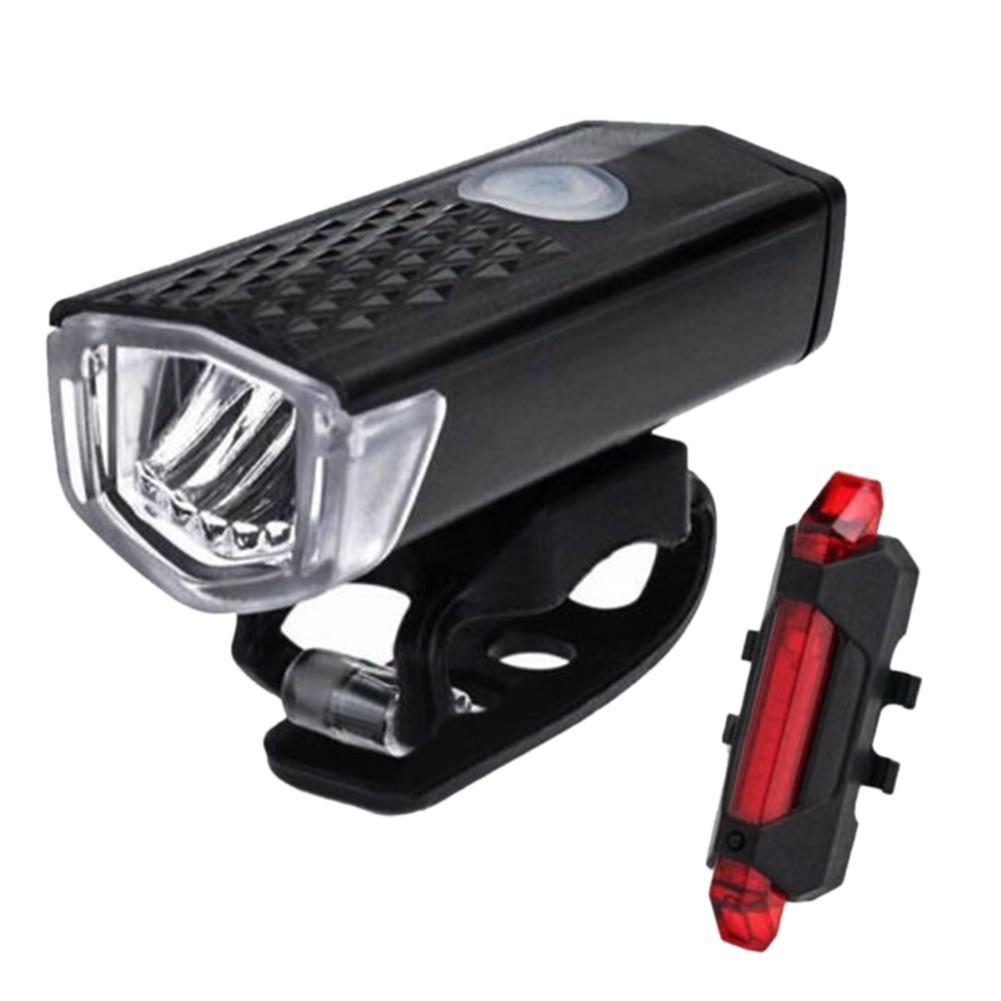Luces de bicicleta recargables, luces LED de bicicleta, faro delantero, linterna de bicicleta, luces de advertencia, luz trasera y delantera, lámpara de seguridad