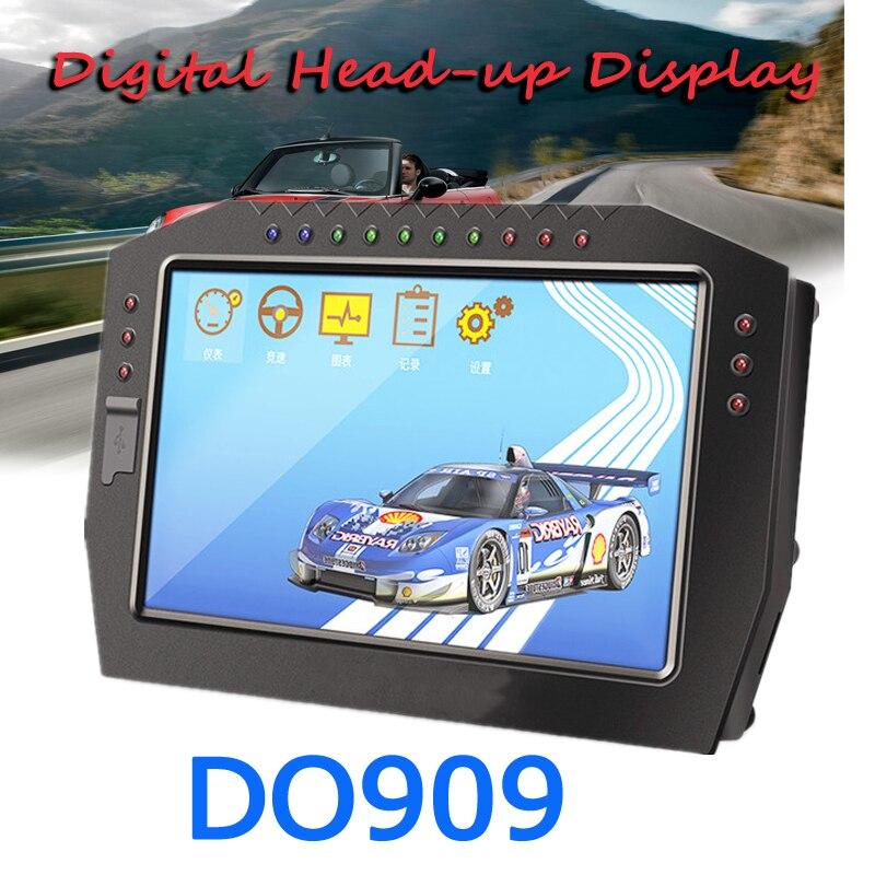 Pantalla táctil DO909, pantalla Digital para salpicadero de carreras de coches, KIT de Sensor completo, pantalla LCD de colores, calibre Universal de 12V para coche