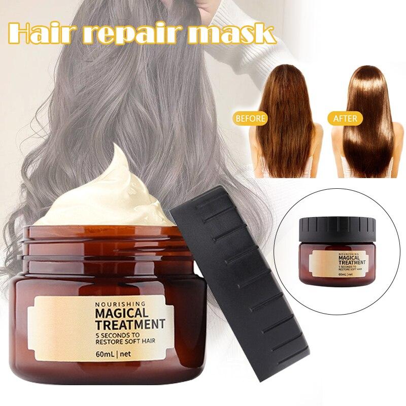 60ml Hair Repair Mask for Damaged Hair Care Hair Filling Mask Keratin Cream Salon Essential Oil B88