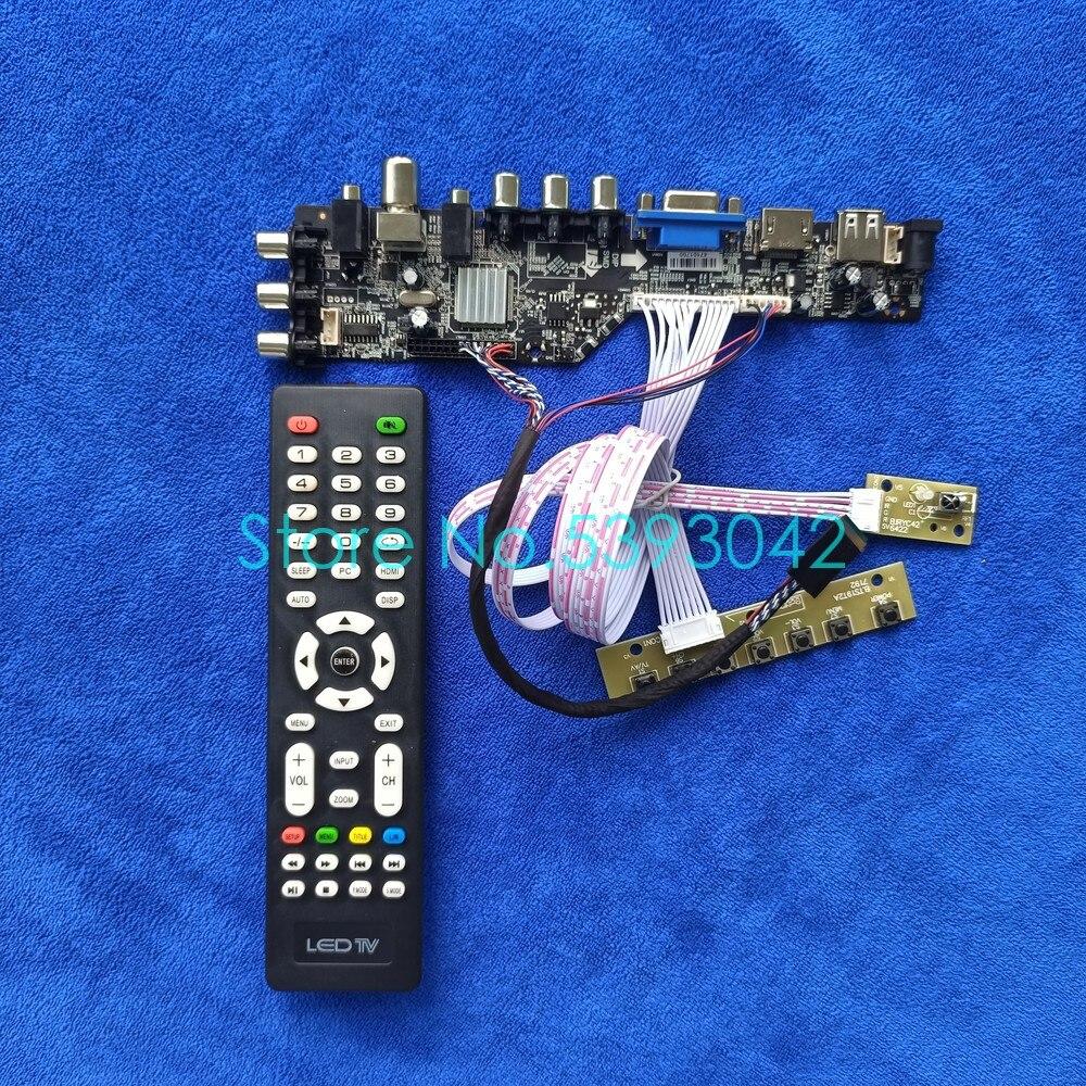 مجموعة لوحة عرض LVDS لـ LT133EE09/LT133EE10/HSD101PHW1/HSD140PHW1 ، USB ، VGA ، AV ، 40 دبوس ، DVB-T ، إشارة رقمية ، 1366*768