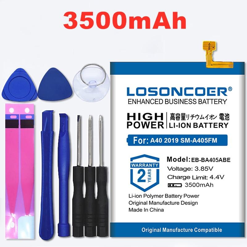 100% מקורי LOSONCOER 3500mAh EB-BA405ABE סוללה עבור סמסונג גלקסי A40 2019 SM-A405FM/DS SM-A405FN/DS GH82-19582A