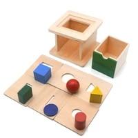 wooden montessori sensory toys coin imbucare box with 6 in 1 box montessori educational preschool training toys for child d166f