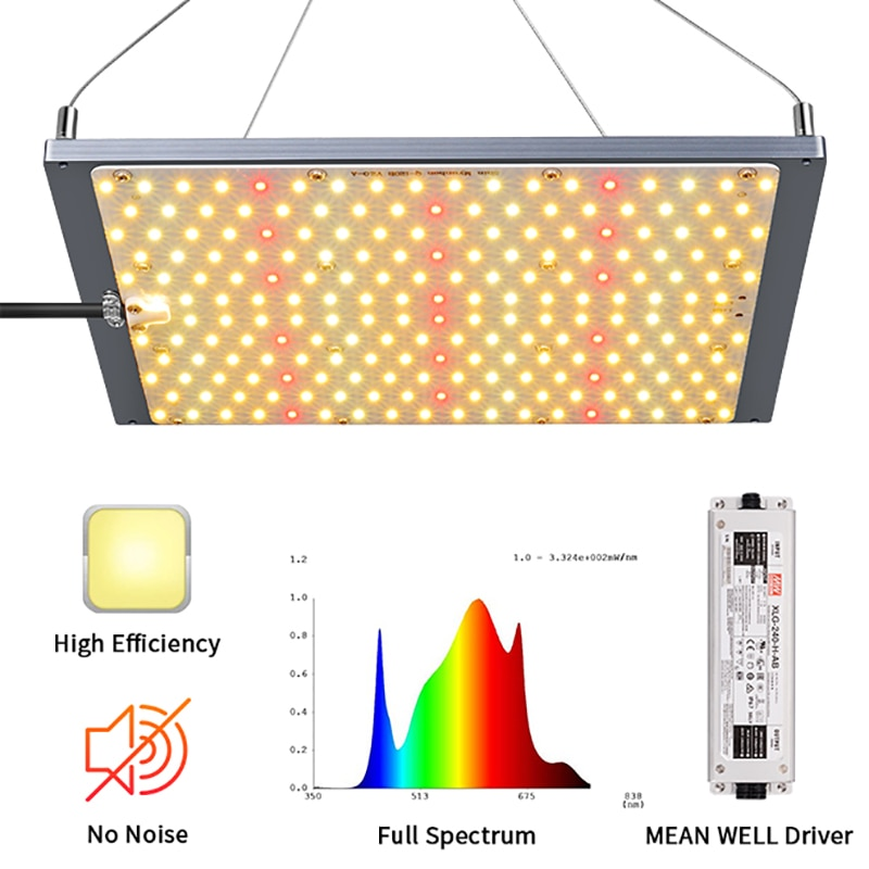 Dimmable LED Grow Light 120W Full Spectrum Led Grow Samsung 301 Diodes Light Lamp Plants Flowers  Growing Lights Plant Grow Lamp