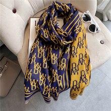 Warm Thick Cashmere Scarf Women Print Doubel-sided Blanket Shawl And Wraps Tessel Bufanda Female Pas