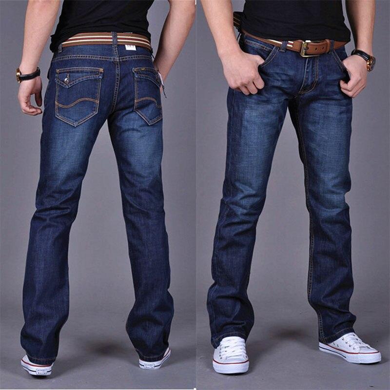 2019 повседневные джинсы, мужские прямые джинсы в деловом стиле, Стрейчевые джинсовые брюки, зауженные классические джинсы Cowboys для молодых м...
