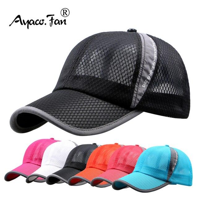 Men Women Quick-dry Sports Baseball Cap Snapback Sunhat Mesh Patchwork Outdoor Hiking Running Hip Hop Baseball Hats Casquette