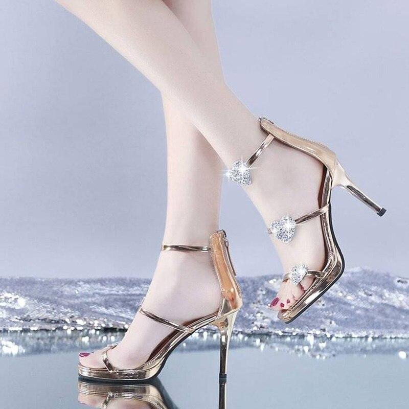 Designer brand ladies high heels summer shoes women pumps wedges star heart style lady heels