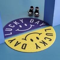 lucky day home door mat pvc anti slip mat living room mat hallway entrance door mat carpet custom silk loop dustproof mat carpet