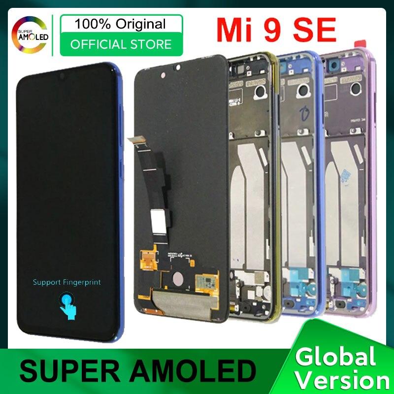 5.97'' Amoled Display for Xiaomi Mi 9 SE LCD Screen with Fingerprint 10 Touch Display for Xiaomi Mi9 SE Mi 9SE M1903F2G Repair