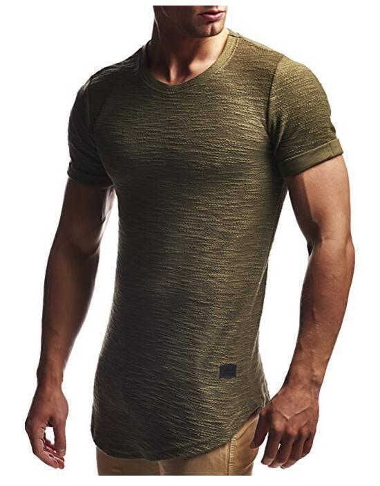6455-الرجال تي شيرتات قصيرة الاكمام بلون الرجال قاع قميص الصيف الجليد الحرير نصف كم