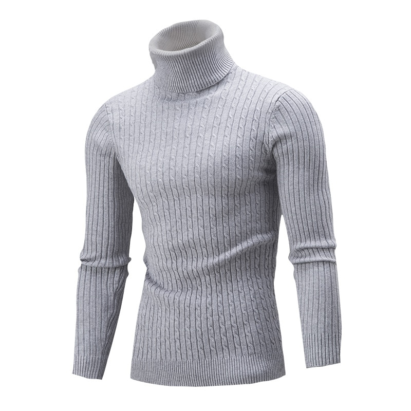 Men's Turtleneck Striped Sweater Knit Multicolor