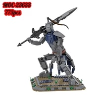 moc dark night ghost abyss walker great wolf knight abyss walker monster building block model fighting gray wolf childrens toy
