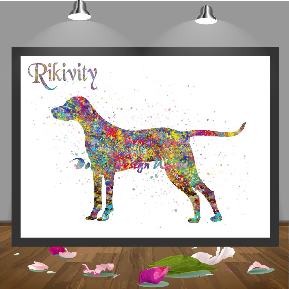 Rikivity, cartel de perro Vizsla húngaro, impresiones en lienzo, pintura de animales, imágenes artísticas para pared, decoración de pared, regalos colgantes para el hogar