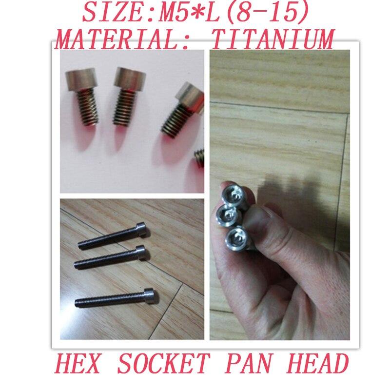 10 teile/los M5 * 8/10/12/15 hex socket cap head Titan schrauben titan allen inneren hex schrauben hardware befestigungen 133