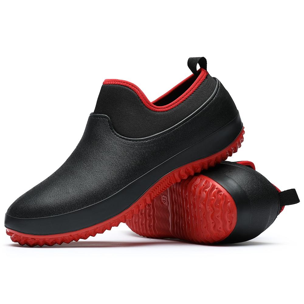 Chaussures de travail pour la cuisine pour hommes, respirantes, antidérapantes, imperméables, pour Chef cuisinier, décontractées, plates, bottes de pluie, nouvelle collection 2020