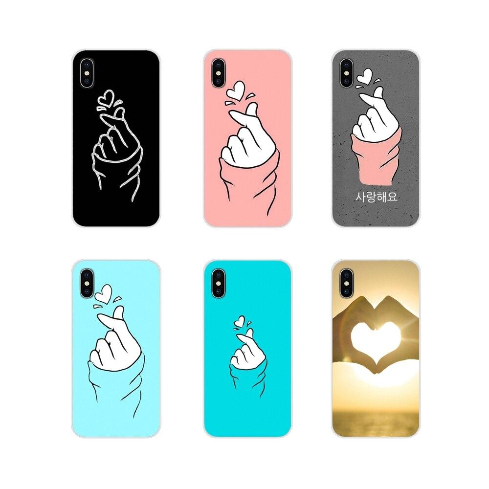 Para samsung galaxy s2 s3 s4 s5 mini s6 s7 borda s8 s9 s10e lite mais acessórios capas de telefone branco amor kpop coração