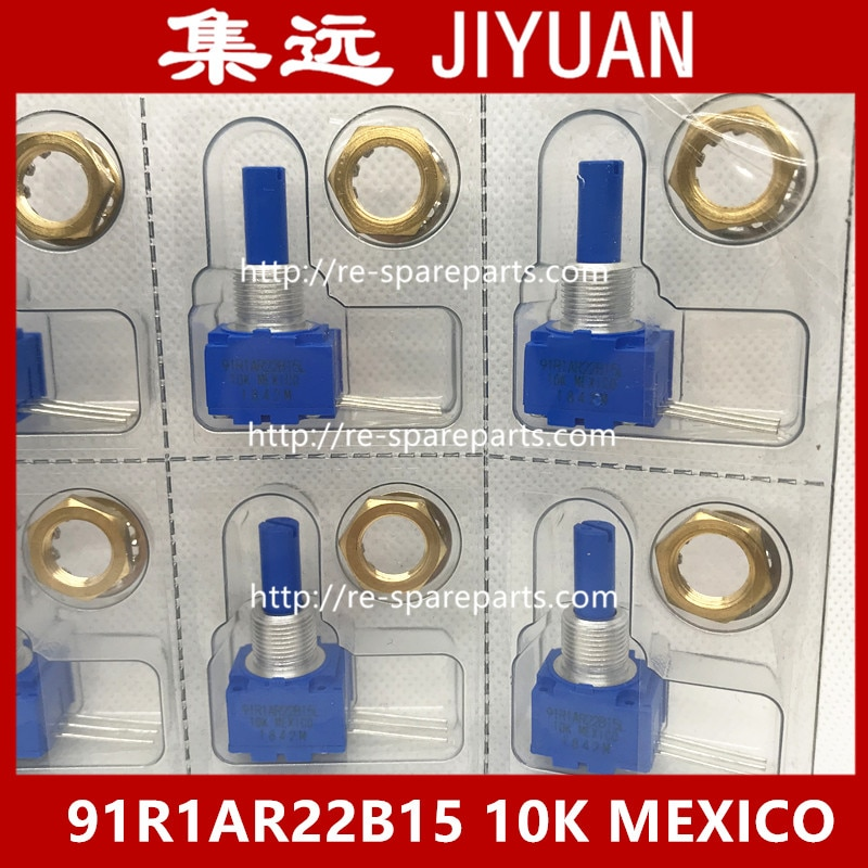 NEW original 91R1AR22B15L 91R1AR22B15 10K MEXICO import sealed single linked potentiometer environmental unleaded--5pcs/lot