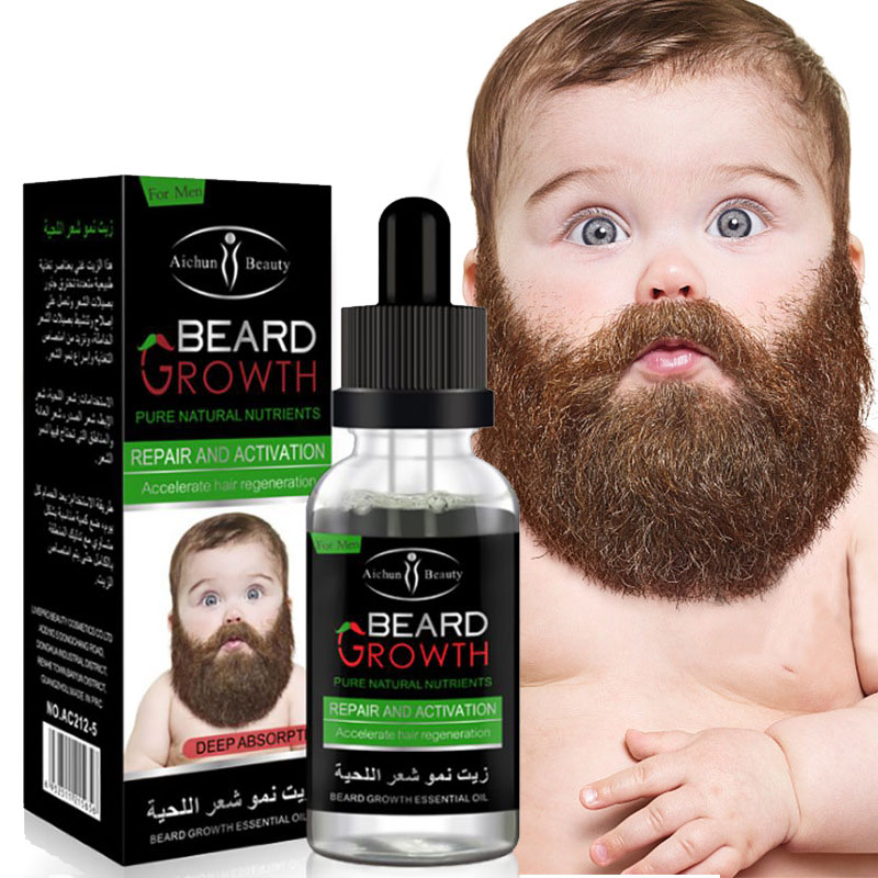 Natural Organic Men Beard Growth Oil Beard Wax balm Hair Loss Products Leave-In Conditioner for Groomed Beard Growth 30ml недорого