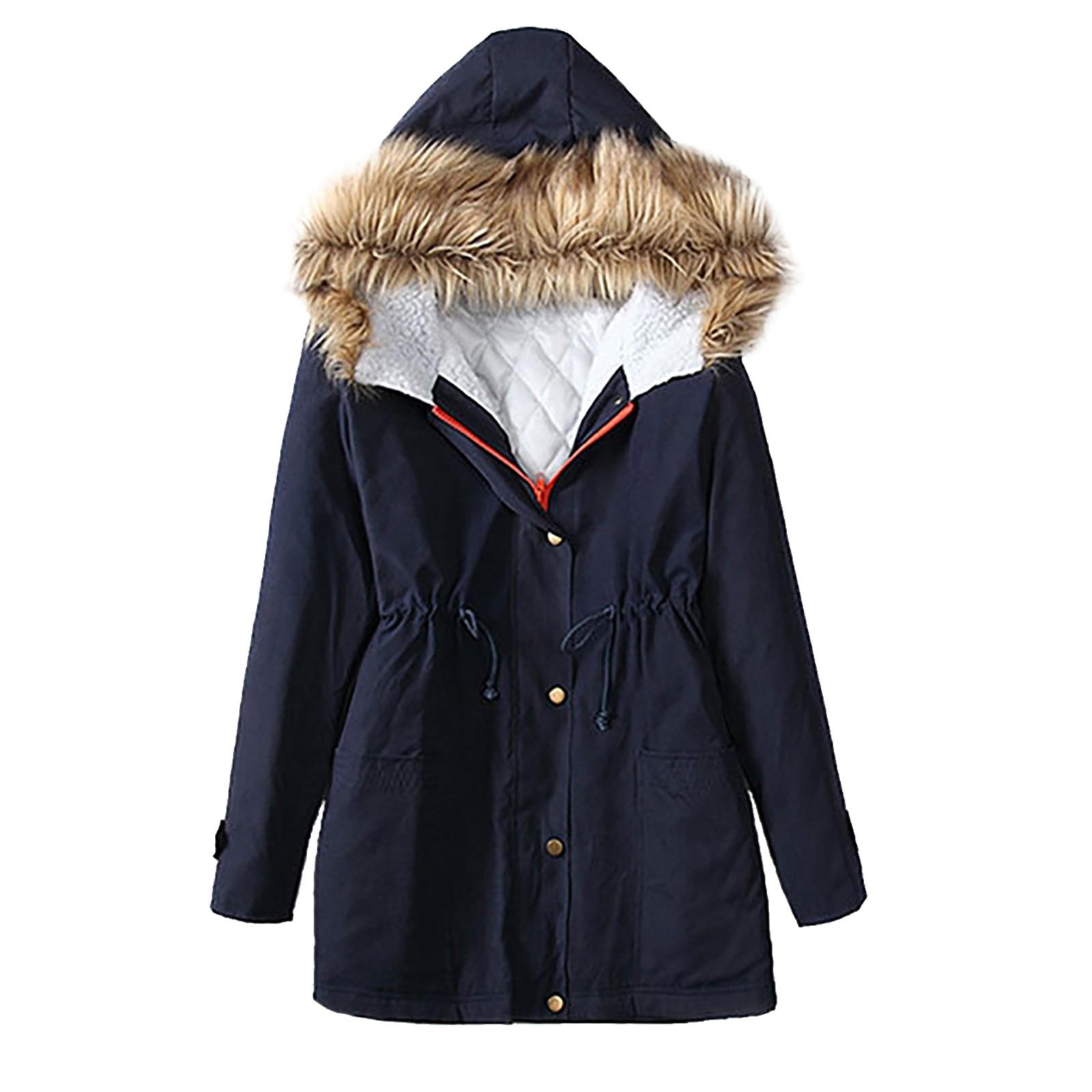 Chaqueta de algodón de manga larga con capucha Para Mujer, Chaqueta de...