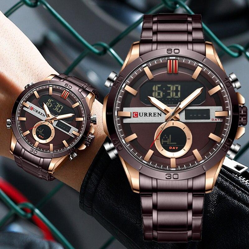 CURREN Fashion Design Quartz Men Watches Luxury Stainless Strap Watch Men Multifunctional Digital Casual Male Clock часы женские curren watch relojes hombres de la marca de lujo curren reloj inteligente montre relojes curren men watch